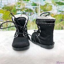 Mimiwoo Yo SD 1/6 BJD Doll Shoes Cloth Boots Black (for Foot 4.5cm long)