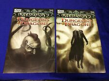 DUNGEONS and DRAGONS: INFESTATION #1-2 (IDW/CRILLEY/SCHITI/121568) SET LOT OF 2