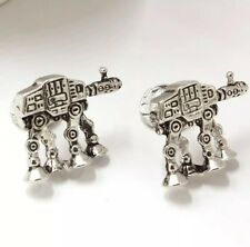 Cufflinks Star Wars 7 AT-AT Terrain Armoured Transport silver Colour Robot