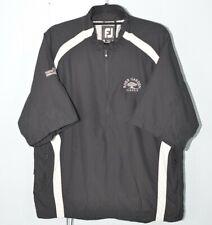Fj Footjoy: Black/White Jacket (Size Large) 1/2 Half Zip Polyester