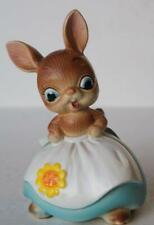 Bunny Rabbit Figure Josef Originals Mama Bunny Flower Apron Ceramic Made Japan