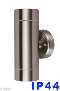 Wall light Up and Down IP44 Outside Indoor stainless steel GU10 Led