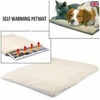 Self Heating Pet Blanket Pad Warm Thermal Rug Ideal for Cat Dog Bed Washable UK*