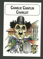 Charlie Chaplin The Little Tramp Color Caricature Card from Canada