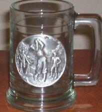 Golf 3-D Pewter Logo 15 oz. Glass Mug