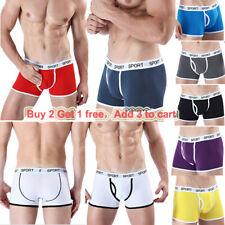 Mens boys sexy underwear boxer briefs cotton S M L XL breathable Underpants