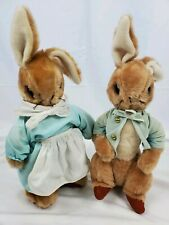 Vintage Eden Plush Peter Rabbit And Beatrice Potter Stuffed Rabbits