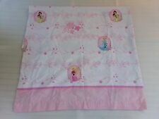 Disney Princess Pink Cinderella Aurora Belle Flat Twin Sheet Bedding Fabric