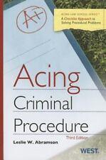 NEW - Acing Criminal Procedure, 3d (Acing Series) by Abramson, Leslie