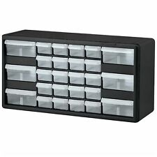Plastic 26 Compartment Storage Cabinet Drawer Box Organizer Tools Small Parts