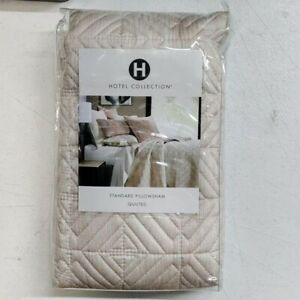 Hotel Collection Woodrose Quilted 100% Cotton Standard Sham