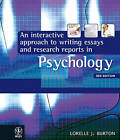 An Interactive Approach to Writing Essays and Research Reports in Psychology by…