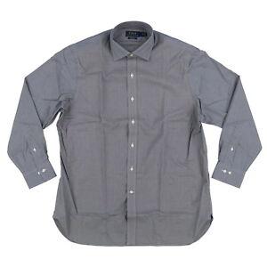 Polo Ralph Lauren Mens Buttondown Dress Shirt Long Sleeve Solid Stripe 15 16 17