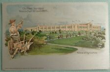 World's Fair 1904 St Louis Missouri Official Souvenir Postcard Agriculture