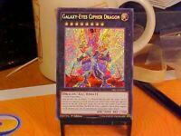 Yugioh Galaxy-Eyes Cipher Dragon Secret Rare 1st Edition MP DRL3-EN029