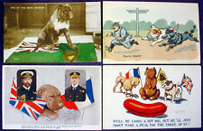 Vintage POSTCARD Lot WWI England British Irish BULLDOG Russia BEAR France POODLE