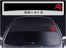 SS1415 Citroen sun strip graphics stickers decals sunstrip C1 C2 C3 DS3 C4