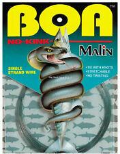 New Malin Boa No-Kink Titanium Leader Wire 30# 30' .011 Dia Nk30-30