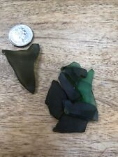 Heart  Shaped Piece Genuine North East Coast Seaglass Seaham Plus Small Bits