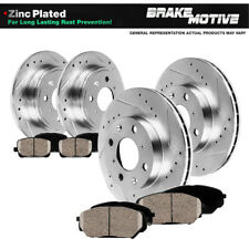 Front+Rear Drill Slot Brake Rotors & Ceramic Pads For 2012 2013 - 2016 Fiat 500