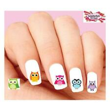 Waterslide Bird Nail Decals Set of 20 - Colorful Owl Assorted