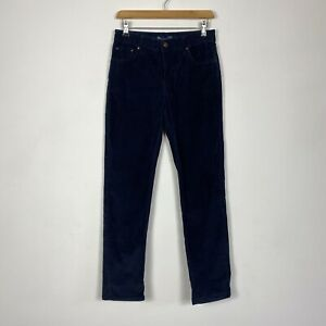 Boden Navy Blue Corduroy Straight Chino Trousers Size 10