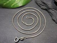 Schlichte 925 Silber Kette Schlangenkette Rund Sterling PPG Signiert Elegant