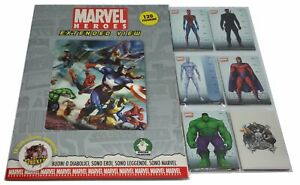 Marvel Heroes Extended View Album + Set Completo Figurine