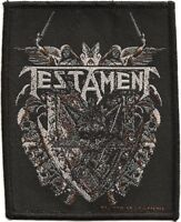 Official Licensed Merch Woven Sew-on PATCH Heavy Metal Rock TESTAMENT Shield