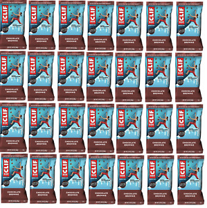 Clif Bars LOOSE LOT of 60 Chocolate Brownie 2.4 oz Bar Best By 01/23/2021