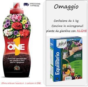 CONCIME NUTRI  ONE 1 LIQUIDO UNIVERSALE PIANTE FIORI GIARDINO VALAGRO 1000 ML