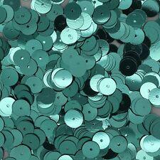 8mm Flat Loose SEQUINS PAILLETTES ~ Metallic Aqua Blue Green ~ Round Spangle