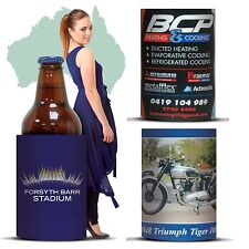 75 x Custom Stubby Holder Stubbie Cooler Colour Business Promotion Advertising