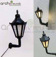 2 X LED Applique lampada da parete 1,8cm MODELLISMO 1:100/1:150 ottocentesche ferroviario traccia TT/N