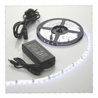 5M Cool White Waterproof LED Strip Light+12v Power Supply SMD3528 300 5 metre
