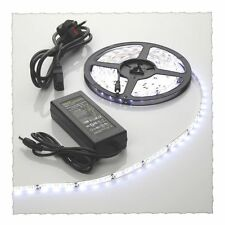 5m Cool White Waterproof LED Strip Light+12v Power Supply 300 SMD3528 Day Bright