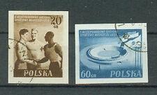 Polonia sellos 1955 juventud-sport firmemente juegos mi.nr.934+935