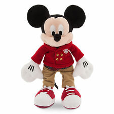 "Disney Store Christmas Coat Mickey Mouse Holiday 2016 Plush 16"" Tall Toy Doll"