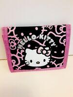 Sanrio Girls Hello Kitty Tri Fold Black Pink Wallet Authentic New Birthday Gift