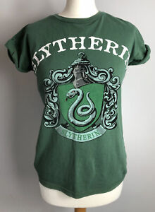 SLYTHERIN House HARRY POTTER Size 8 Green T-shirt Ladies Autumn Winter
