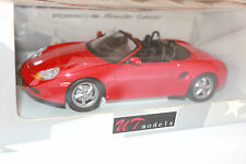 UT MODELS Red 1996 PORSCHE BOXSTER CABRIOLET 1:18 Diecast Model - New in Box