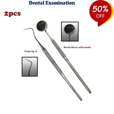 Dental Explorer 9, Mouth mirror with handle Oral Diagnostic Tools