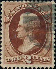 #135 1870 2c NATIONAL BANK NOTE ISSUE USED--VF LITE CANCEL