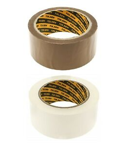Parcel Tape Packing Strong Packaging Sealing Long Brown Buff / Clear 48mm x 50m