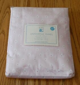 Pottery Barn Kids Drapery Panel Annabelle Pink Floral NIP Lined Cotton