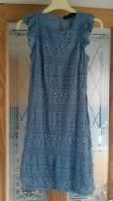 BLUE LILAC FRILL SLEEVE  BODY CON DRESS SIZE 8 BY ATMOSPHERE