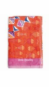 "Vera Bradley Beach Towel~Go Fish Coral 33""x 66"" NWT"