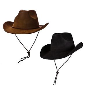 Erwachsene Super Luxus Cowboy Hut Wilder Westen Kostüm Hut Schwarz/Braune
