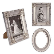 3 piece Picture frame mirror Set made of Plastic in silver SECOND CHOICE PRODUCT