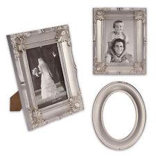 3 partes bilderrahmen-spiegel-set de plástico en plata 1b-ware